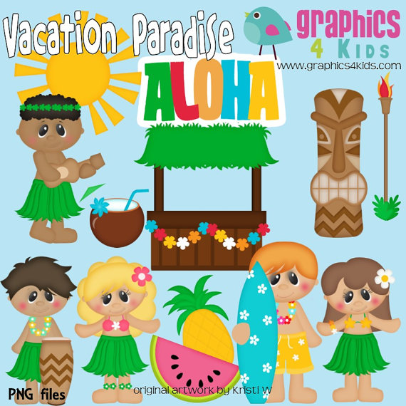 Vacation clipart paradise  Download Digital Use Clip