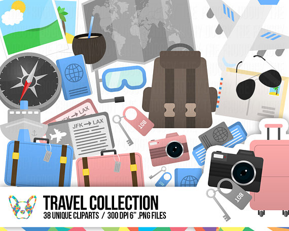 Vacation clipart plan a Clipart Suitcase Clipart  Travel