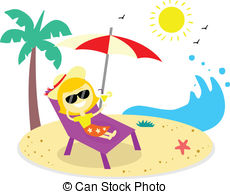 Vacation clipart relaxation On Art Vector Graphics Beach