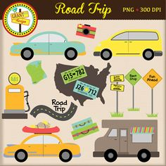 Vacation clipart road trip Road Clipart and Vacation Trip