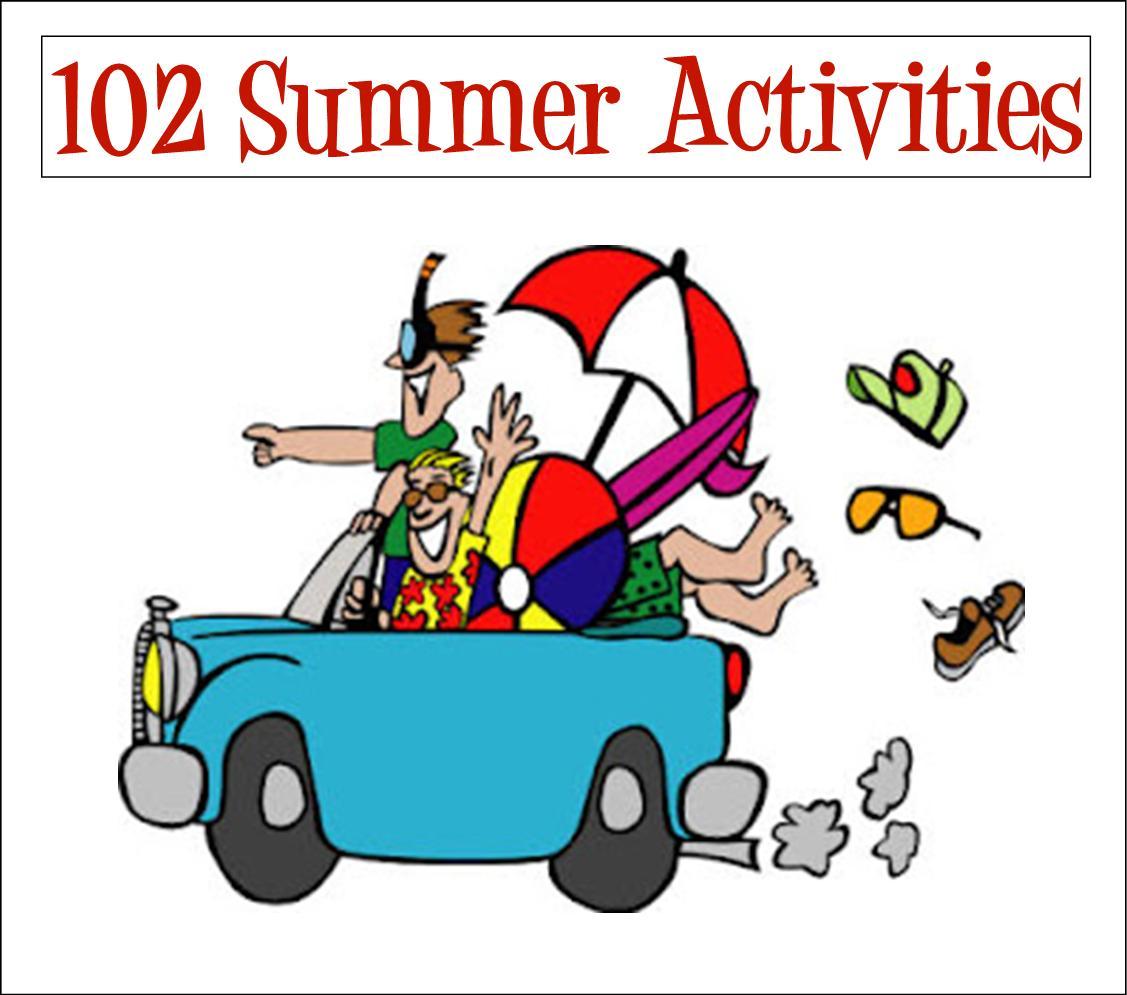 Vacation clipart summer activity Of Fun Activities Wall: Summer