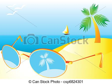 Vacation clipart sunny beach Art of at beach of