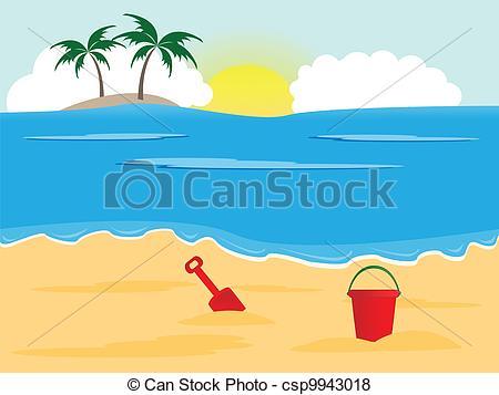 Vacation clipart sunny beach Of Vector background Sunny
