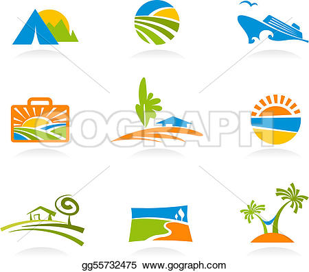 Vacation clipart tourism Stock Vector Clipart  and