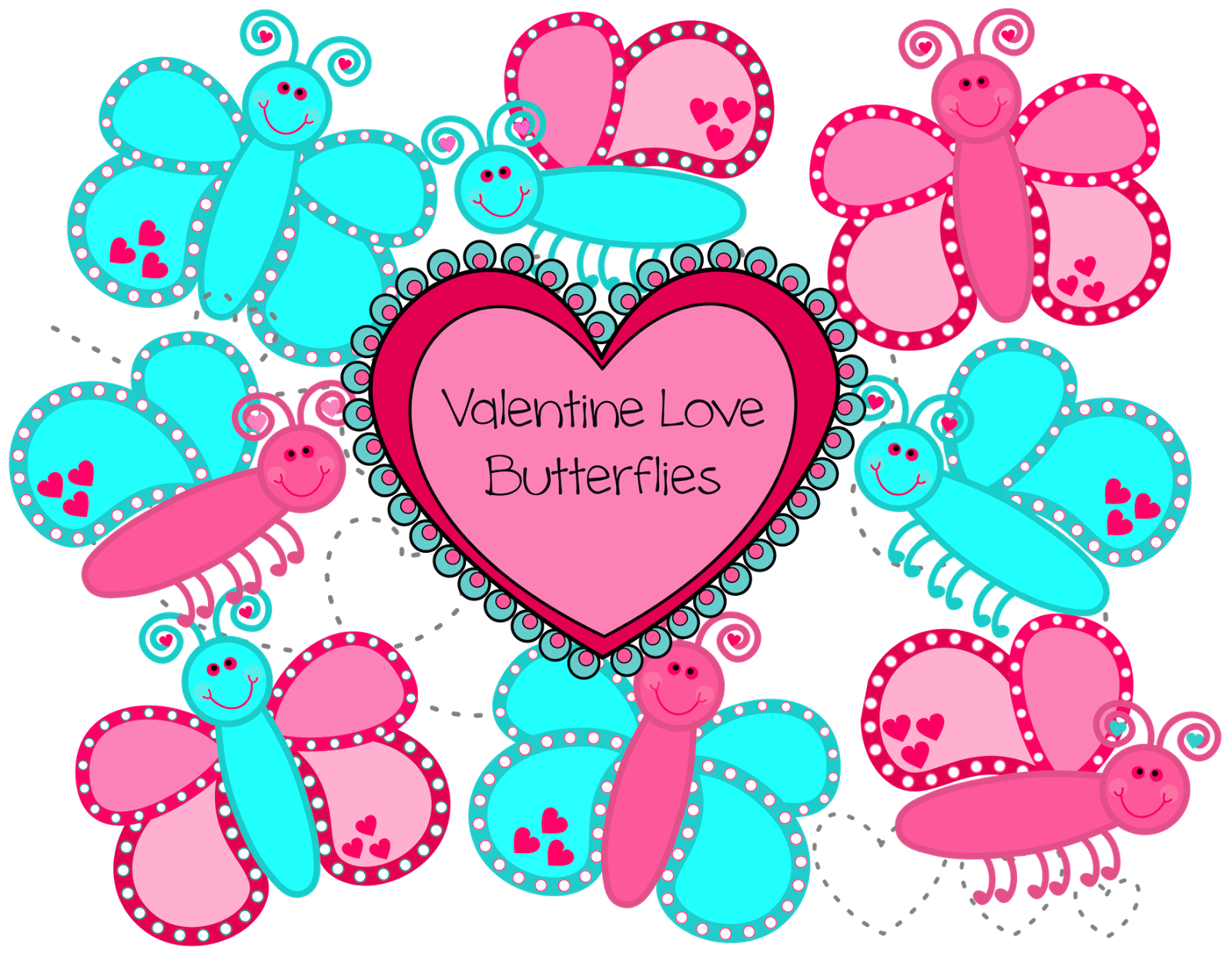 Butterfly clipart valentine's day The Day Butterflies and previous