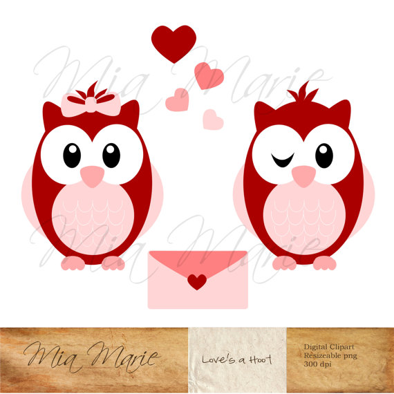 Card clipart valentine cookie Owl INSTANT Art DOWNLOAD DOWNLOAD