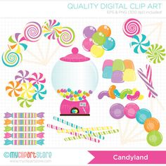 Candy Bar clipart candyland Valentines Party Digital Girly /
