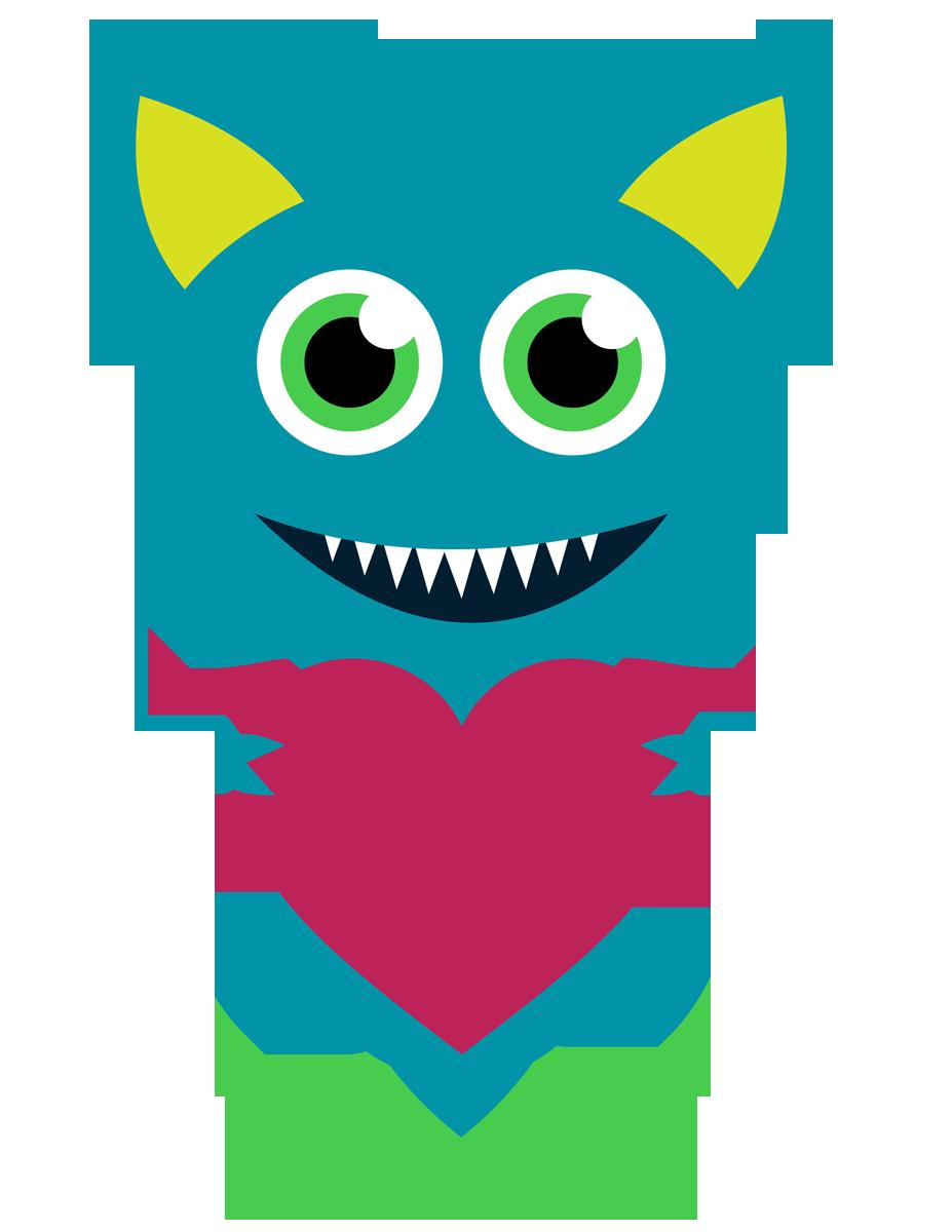 Monster clipart happy #4
