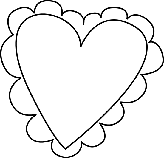 Amd clipart heart Outline Heart Black Clipart Free