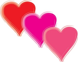 Hearts clipart three Hearts Three Colors of Hearts