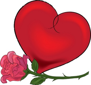 Red Flower clipart valentine rose #7