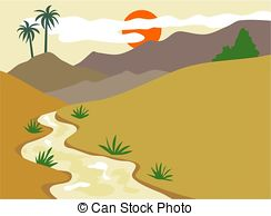 Valley clipart Illustration illustration Valley Art Stock