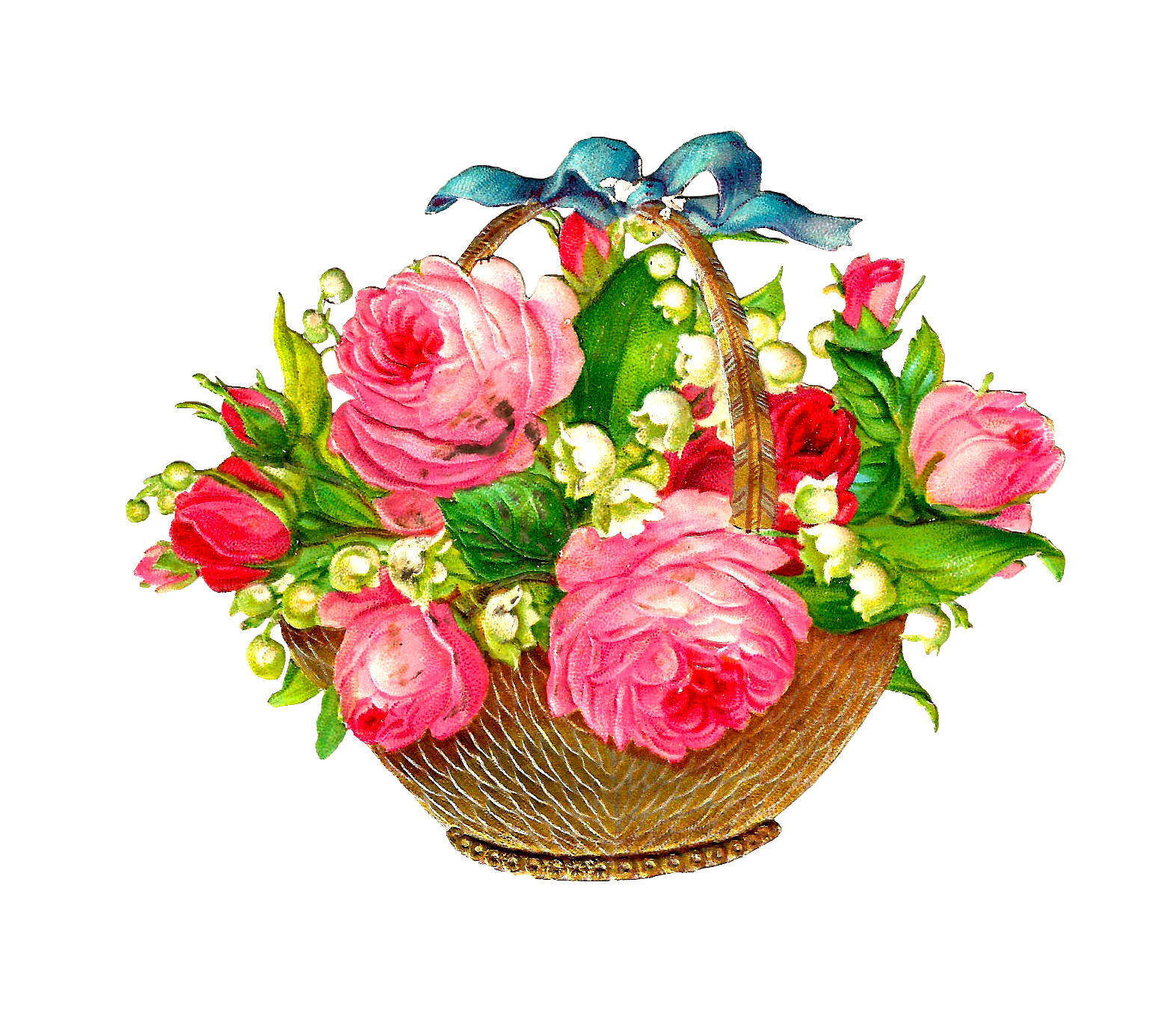 Pink Rose clipart lily Clipart basket yellow Collection Flower