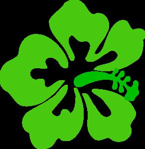Tropical clipart green flower #1