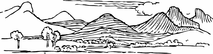 Scenery clipart mountain valley #2