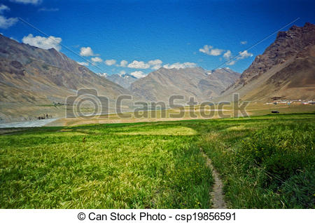 Valley clipart himalaya Paint and background and in