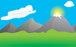 Scenery clipart mountain valley #8