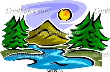 Mountain clipart stream #1