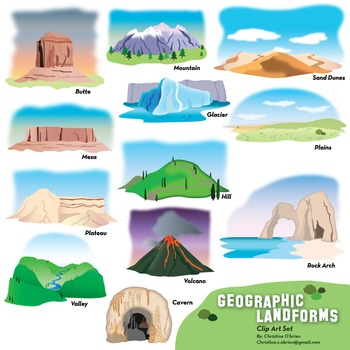 Canyon clipart desert sun And and illustrations Landforms and