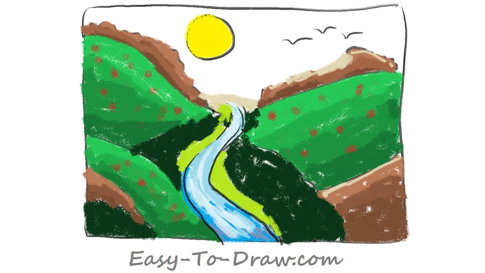 Drawn river cartoon A How Free plentiful Easy