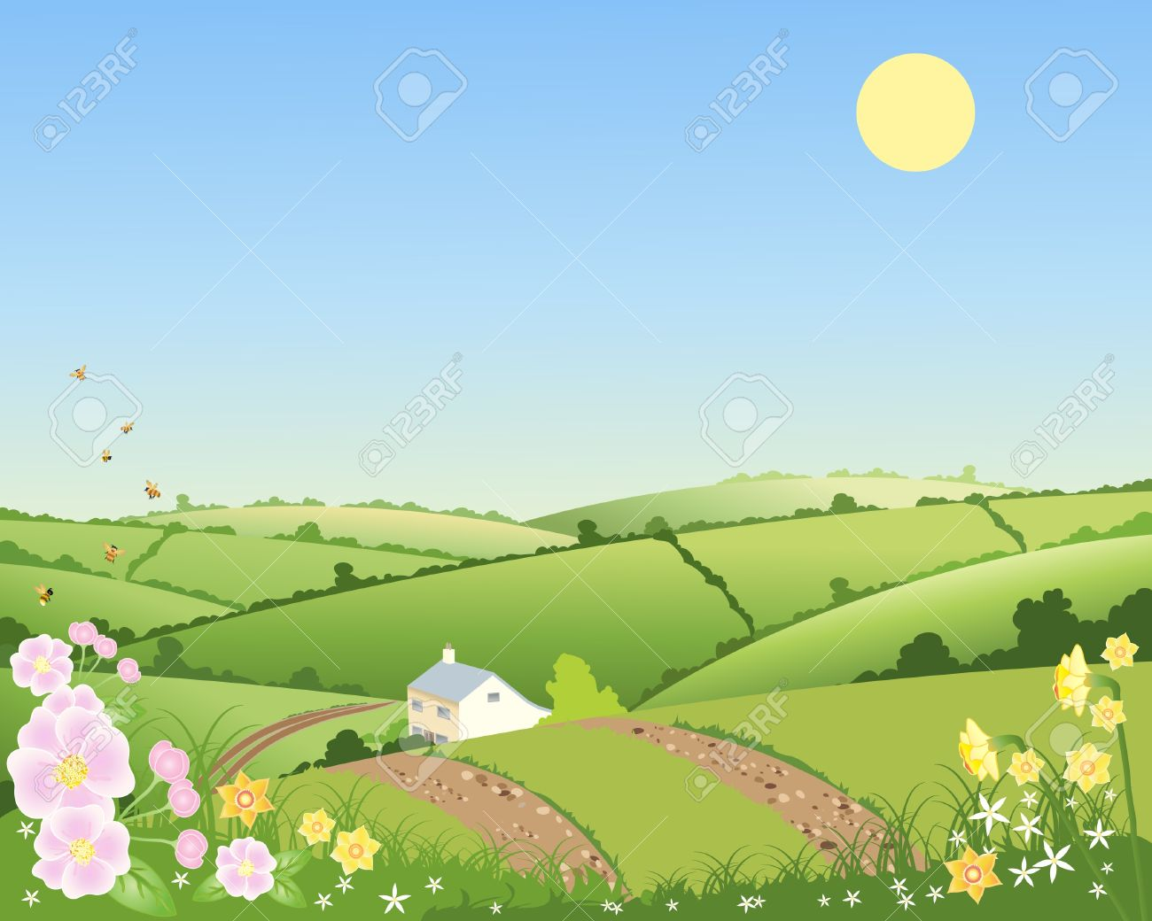 Country clipart landscape – Landscape Landscape Hill Download