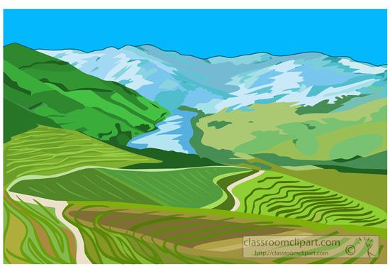 River clipart rolling hills #14