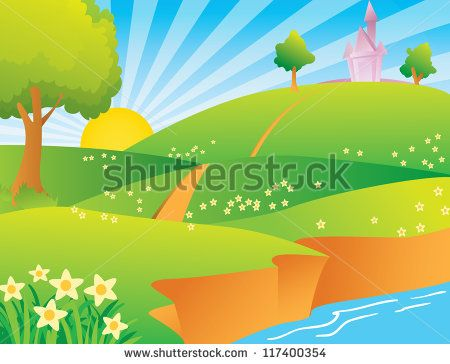 Valley clipart summer scene At best Clipart 173 images