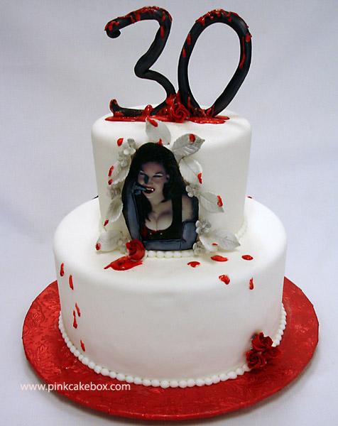 Vampire clipart birthday cake Box Halloween more Pink &