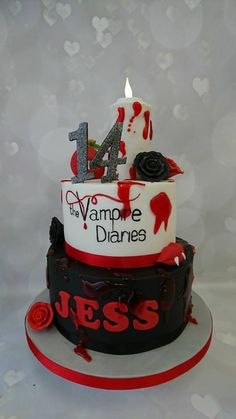 Vampire clipart birthday cake Cakes Jess and Cake Cake