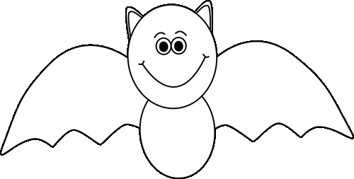 White clipart halloween Black and black WikiClipArt Bat