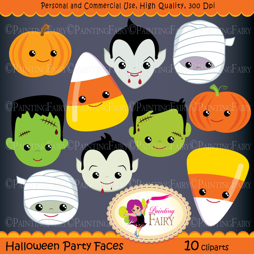 Dracula clipart frankenstein  Party is Halloween digital
