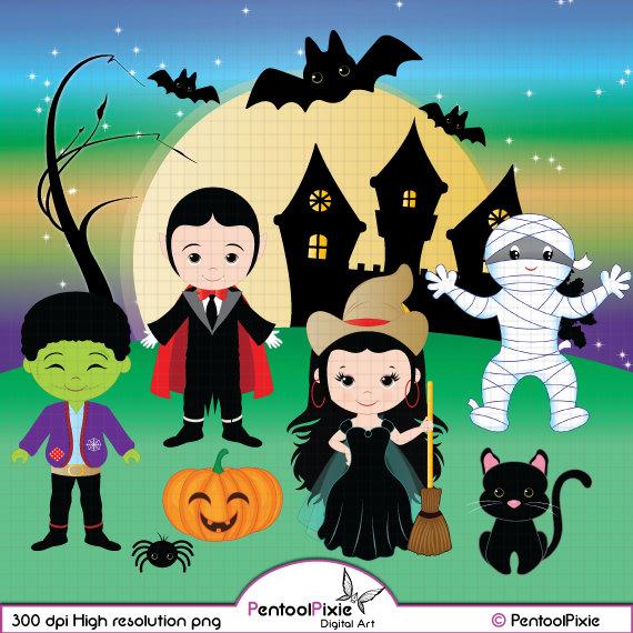 Dracula clipart frankenstein Kids  Halloween Witch clipart