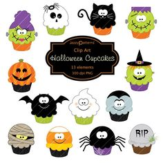 Halloween clipart photo booth Art Cupcakes Clip Cupcakes download