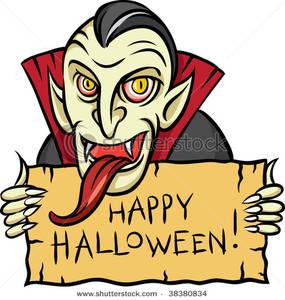 Vampire clipart halloween vampire Clip a a Vampire Sign