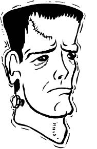 Monster clipart sad  Public Free Free Frankenstein