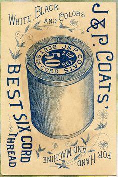 Vanilla clipart apothecary Coats vintage J&P  Back