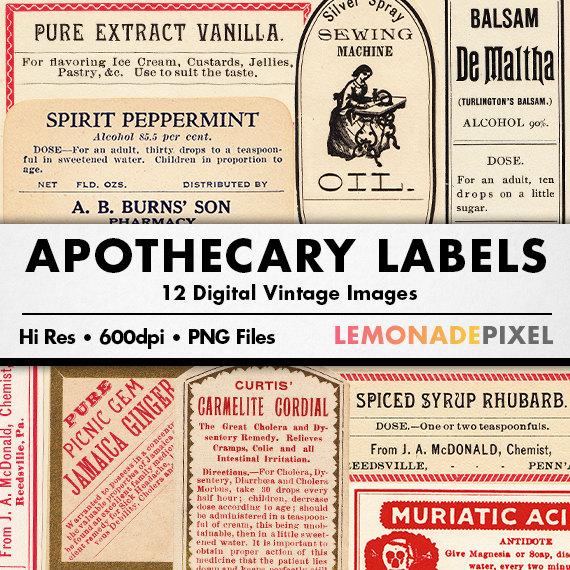 Vanilla clipart apothecary Clip Sheet Art Digital Clip