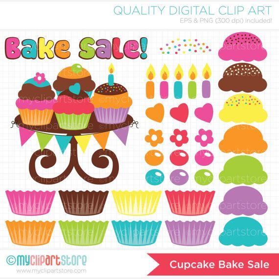 Vanilla Cupcake clipart bake sale Your best (make Digital images
