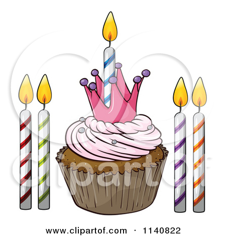 Vanilla Cupcake clipart candle clipart 10 Cartoon Candle Cupcakes Clipart