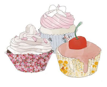 Vanilla Cupcake clipart colorful cupcake Of Pinterest ideas DrawingCupcake art