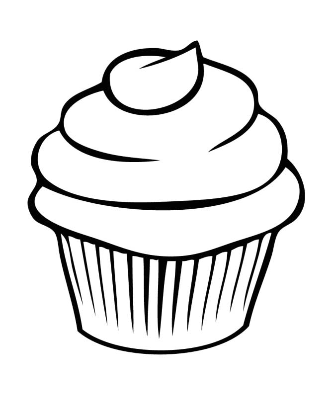 Vanilla Cupcake clipart cookie cupcake Cupcake Coloring Coloring Pages Coloring
