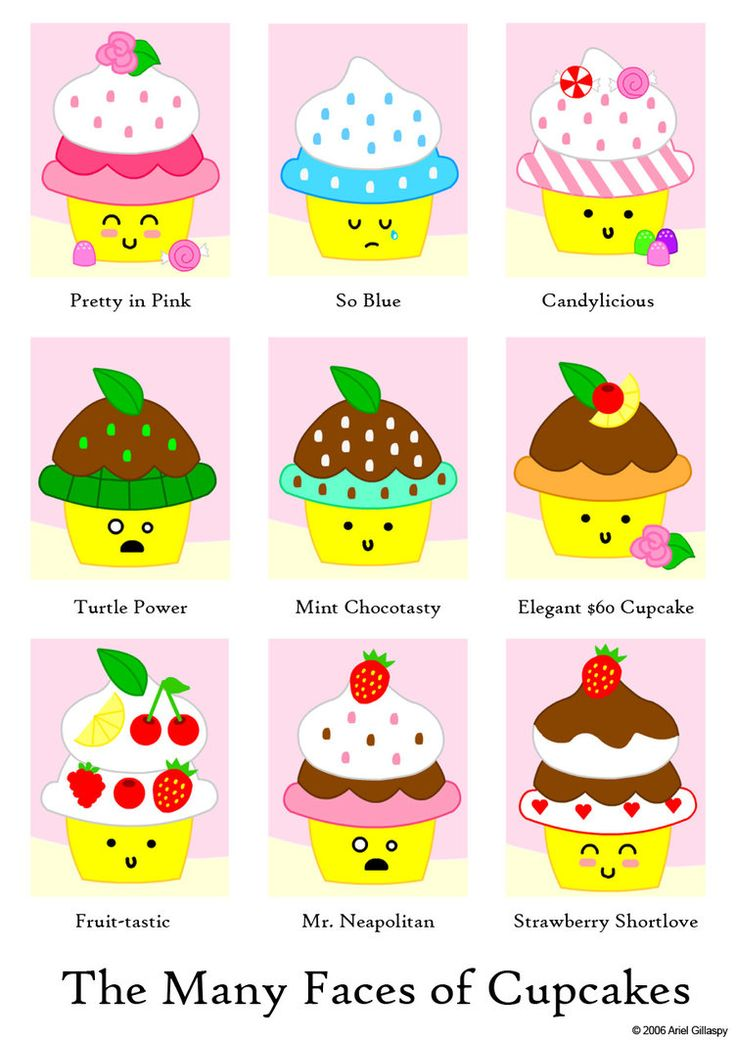 Vanilla Cupcake clipart cute food Cartoon Search with mustache cute
