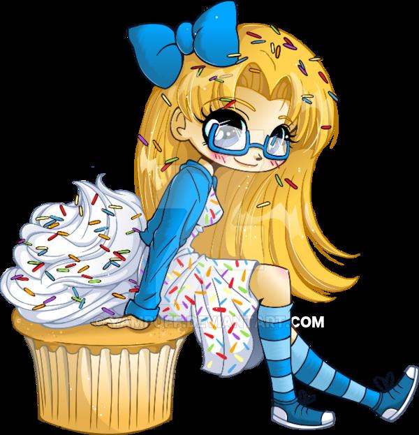 Vanilla Cupcake clipart deviantart YamPuff YamPuff Girl Very by