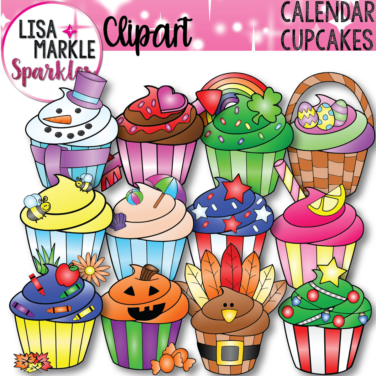 Vanilla Cupcake clipart easter cupcake Holiday file Calendar is
