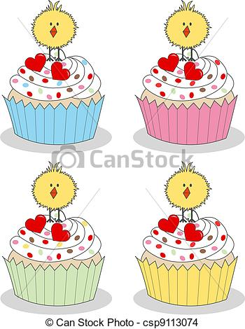 Vanilla Cupcake clipart easter cupcake Csp5743128 Easter of Easter collection