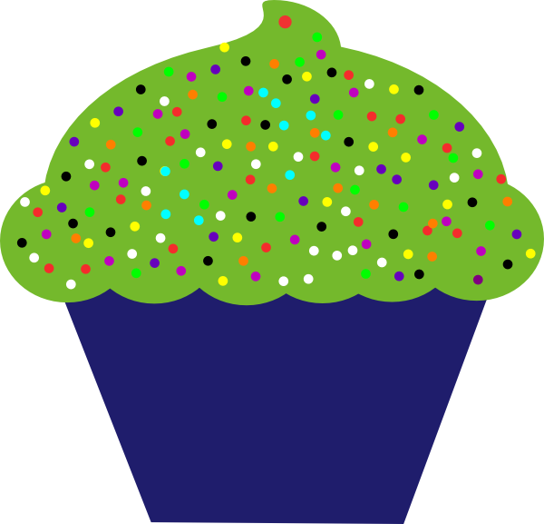 Vanilla Cupcake clipart green cupcake This clip at Clip Clker