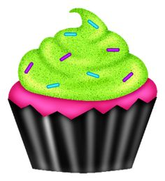 Vanilla Cupcake clipart green cupcake 2 TEACUPS CAKES Pinterest Decoupage
