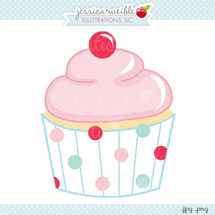 Vanilla Cupcake clipart illustration Cherry #clipart #graphic cute cute