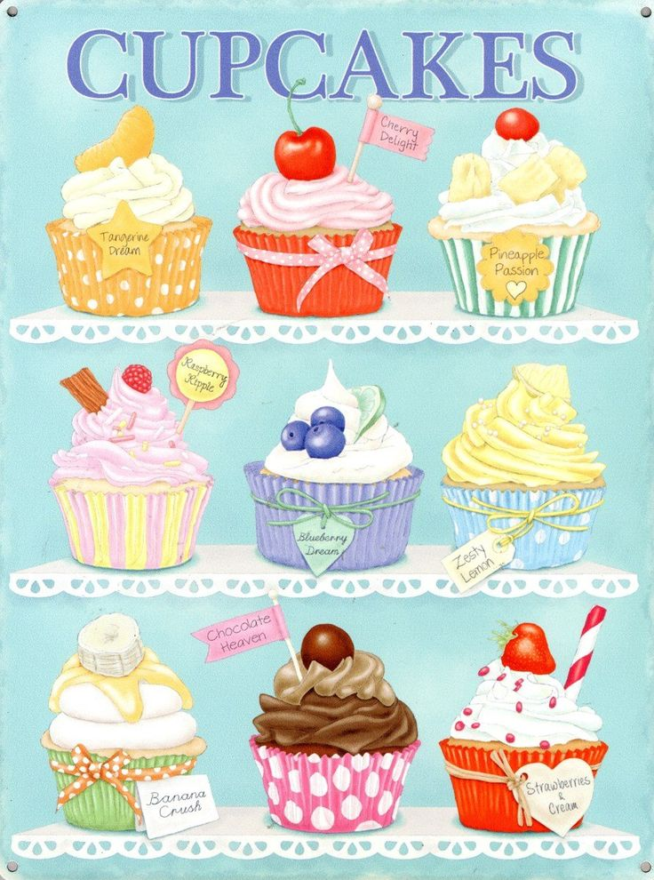 Vanilla Cupcake clipart sale sign 30x40cm ILUSTRACIÓN images on Sign