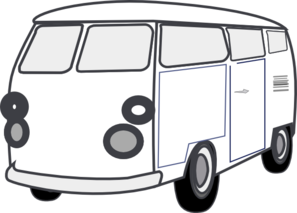 Vans clipart black and white White And Clipart Van Clipart